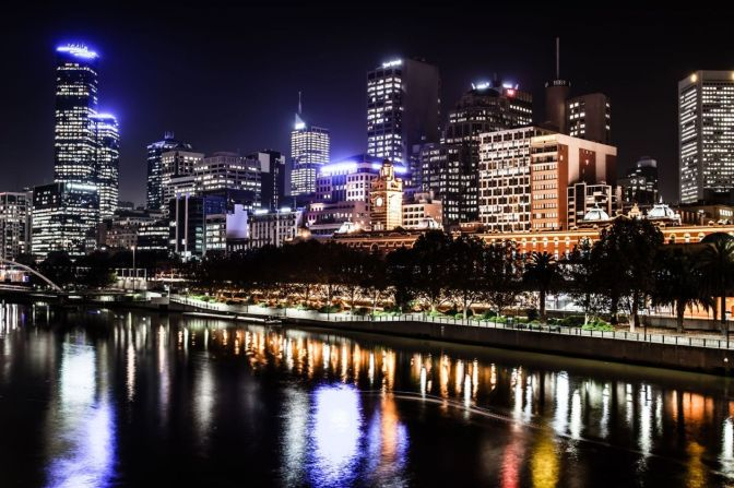 Egress Group Melbourne Night Skyline