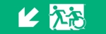 Egress Group Running Man Wheelchair Wheelie Man Symbol Accessible Means of Egress Icon Exit Sign 1