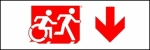 Egress Group Running Man Wheelchair Wheelie Man Symbol Accessible Means of Egress Icon Exit Sign 100
