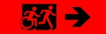 Egress Group Running Man Wheelchair Wheelie Man Symbol Accessible Means of Egress Icon Exit Sign 103