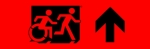 Egress Group Running Man Wheelchair Wheelie Man Symbol Accessible Means of Egress Icon Exit Sign 109