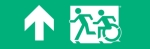 Egress Group Running Man Wheelchair Wheelie Man Symbol Accessible Means of Egress Icon Exit Sign 11