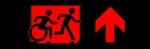 Egress Group Running Man Wheelchair Wheelie Man Symbol Accessible Means of Egress Icon Exit Sign 111