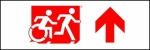 Egress Group Running Man Wheelchair Wheelie Man Symbol Accessible Means of Egress Icon Exit Sign 112