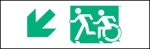 Egress Group Running Man Wheelchair Wheelie Man Symbol Accessible Means of Egress Icon Exit Sign 14