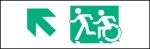 Egress Group Running Man Wheelchair Wheelie Man Symbol Accessible Means of Egress Icon Exit Sign 17