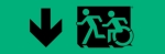 Egress Group Running Man Wheelchair Wheelie Man Symbol Accessible Means of Egress Icon Exit Sign 19