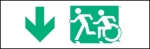 Egress Group Running Man Wheelchair Wheelie Man Symbol Accessible Means of Egress Icon Exit Sign 20