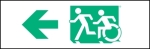 Egress Group Running Man Wheelchair Wheelie Man Symbol Accessible Means of Egress Icon Exit Sign 23