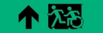 Egress Group Running Man Wheelchair Wheelie Man Symbol Accessible Means of Egress Icon Exit Sign 25
