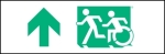 Egress Group Running Man Wheelchair Wheelie Man Symbol Accessible Means of Egress Icon Exit Sign 26