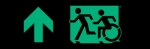 Egress Group Running Man Wheelchair Wheelie Man Symbol Accessible Means of Egress Icon Exit Sign 27
