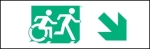 Egress Group Running Man Wheelchair Wheelie Man Symbol Accessible Means of Egress Icon Exit Sign 32