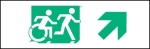 Egress Group Running Man Wheelchair Wheelie Man Symbol Accessible Means of Egress Icon Exit Sign 35