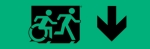Egress Group Running Man Wheelchair Wheelie Man Symbol Accessible Means of Egress Icon Exit Sign 37