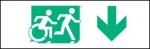 Egress Group Running Man Wheelchair Wheelie Man Symbol Accessible Means of Egress Icon Exit Sign 38