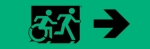 Egress Group Running Man Wheelchair Wheelie Man Symbol Accessible Means of Egress Icon Exit Sign 40