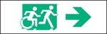 Egress Group Running Man Wheelchair Wheelie Man Symbol Accessible Means of Egress Icon Exit Sign 41