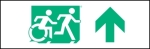 Egress Group Running Man Wheelchair Wheelie Man Symbol Accessible Means of Egress Icon Exit Sign 44