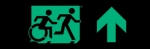 Egress Group Running Man Wheelchair Wheelie Man Symbol Accessible Means of Egress Icon Exit Sign 45