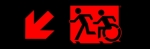 Egress Group Running Man Wheelchair Wheelie Man Symbol Accessible Means of Egress Icon Exit Sign 51