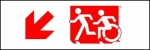 Egress Group Running Man Wheelchair Wheelie Man Symbol Accessible Means of Egress Icon Exit Sign 52