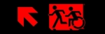 Egress Group Running Man Wheelchair Wheelie Man Symbol Accessible Means of Egress Icon Exit Sign 57