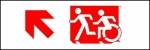 Egress Group Running Man Wheelchair Wheelie Man Symbol Accessible Means of Egress Icon Exit Sign 58