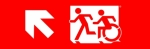 Egress Group Running Man Wheelchair Wheelie Man Symbol Accessible Means of Egress Icon Exit Sign 60