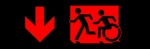Egress Group Running Man Wheelchair Wheelie Man Symbol Accessible Means of Egress Icon Exit Sign 63