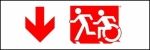 Egress Group Running Man Wheelchair Wheelie Man Symbol Accessible Means of Egress Icon Exit Sign 64