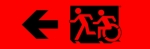 Egress Group Running Man Wheelchair Wheelie Man Symbol Accessible Means of Egress Icon Exit Sign 67