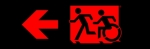 Egress Group Running Man Wheelchair Wheelie Man Symbol Accessible Means of Egress Icon Exit Sign 69