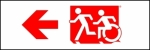 Egress Group Running Man Wheelchair Wheelie Man Symbol Accessible Means of Egress Icon Exit Sign 70
