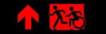 Egress Group Running Man Wheelchair Wheelie Man Symbol Accessible Means of Egress Icon Exit Sign 75