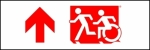 Egress Group Running Man Wheelchair Wheelie Man Symbol Accessible Means of Egress Icon Exit Sign 76