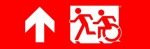 Egress Group Running Man Wheelchair Wheelie Man Symbol Accessible Means of Egress Icon Exit Sign 78