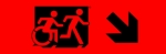 Egress Group Running Man Wheelchair Wheelie Man Symbol Accessible Means of Egress Icon Exit Sign 85