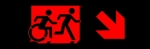 Egress Group Running Man Wheelchair Wheelie Man Symbol Accessible Means of Egress Icon Exit Sign 87