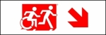 Egress Group Running Man Wheelchair Wheelie Man Symbol Accessible Means of Egress Icon Exit Sign 88
