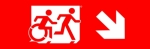 Egress Group Running Man Wheelchair Wheelie Man Symbol Accessible Means of Egress Icon Exit Sign 90