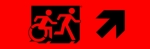 Egress Group Running Man Wheelchair Wheelie Man Symbol Accessible Means of Egress Icon Exit Sign 91