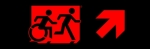 Egress Group Running Man Wheelchair Wheelie Man Symbol Accessible Means of Egress Icon Exit Sign 93