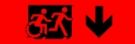 Egress Group Running Man Wheelchair Wheelie Man Symbol Accessible Means of Egress Icon Exit Sign 97