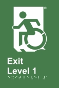 Egress Group Wheelchair Door Sign Level 1 Accessible Means of Egress Icon