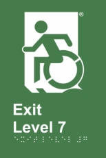 Egress Group Wheelchair Door Sign Level 7 Accessible Means of Egress Icon