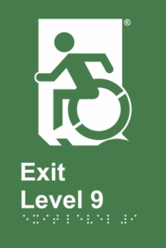 Egress Group Wheelchair Door Sign Level 9 Accessible Means of Egress Icon