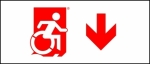 Egress Group Wheelchair Wheelie Man Symbol Accessible Means of Egress Icon Exit Sign 100