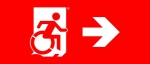 Egress Group Wheelchair Wheelie Man Symbol Accessible Means of Egress Icon Exit Sign 108