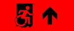 Egress Group Wheelchair Wheelie Man Symbol Accessible Means of Egress Icon Exit Sign 109
